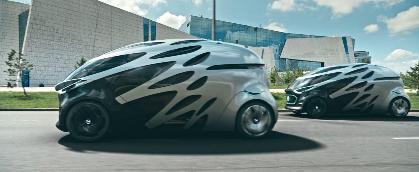 Roboterautos sind nicht unbedingt eine Lösung für das Stauproblem (Foto: Daimler).