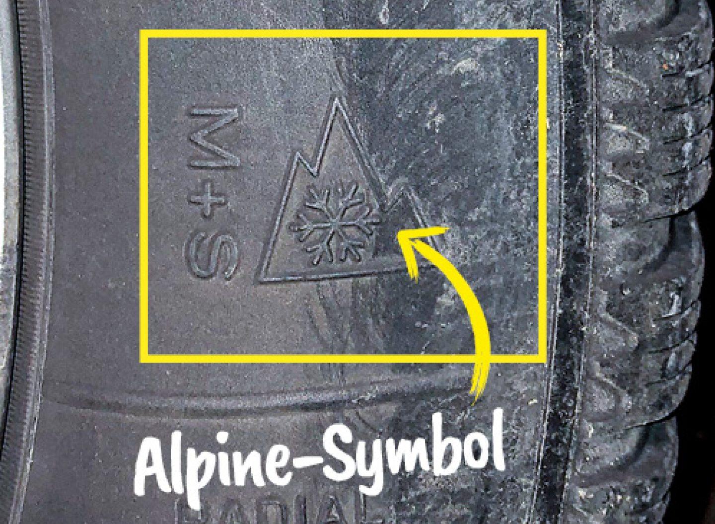 Nur Ganzjahres- oder Allwetterreifen mit dem Alpine-Symbol sind in Deutschland als Alternative zu Winterreifen erlaubt.