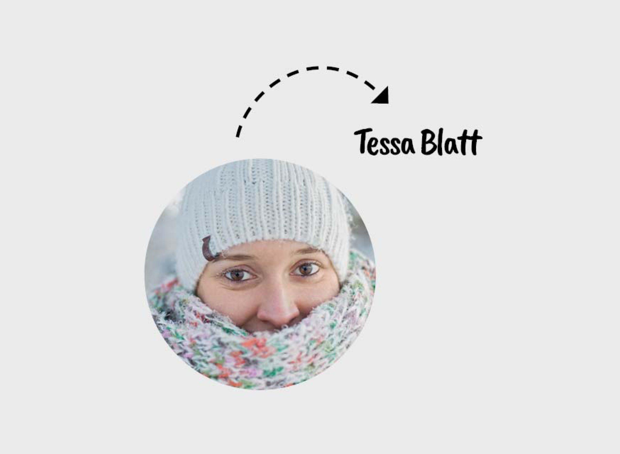 Redakteurin Tessa in Lappland