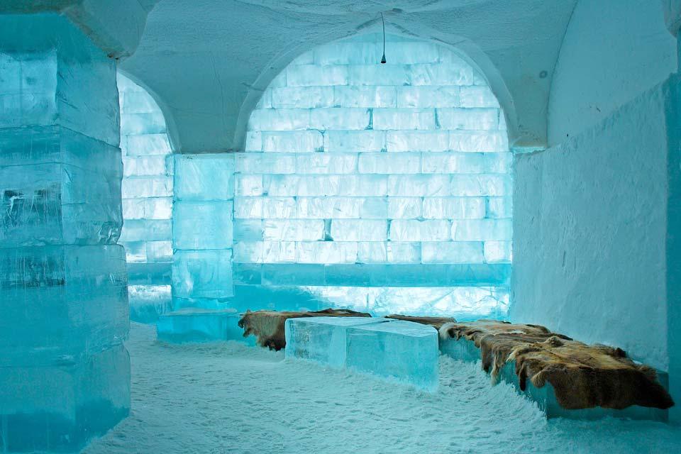 Das Icehotel in Jukkasjärvi