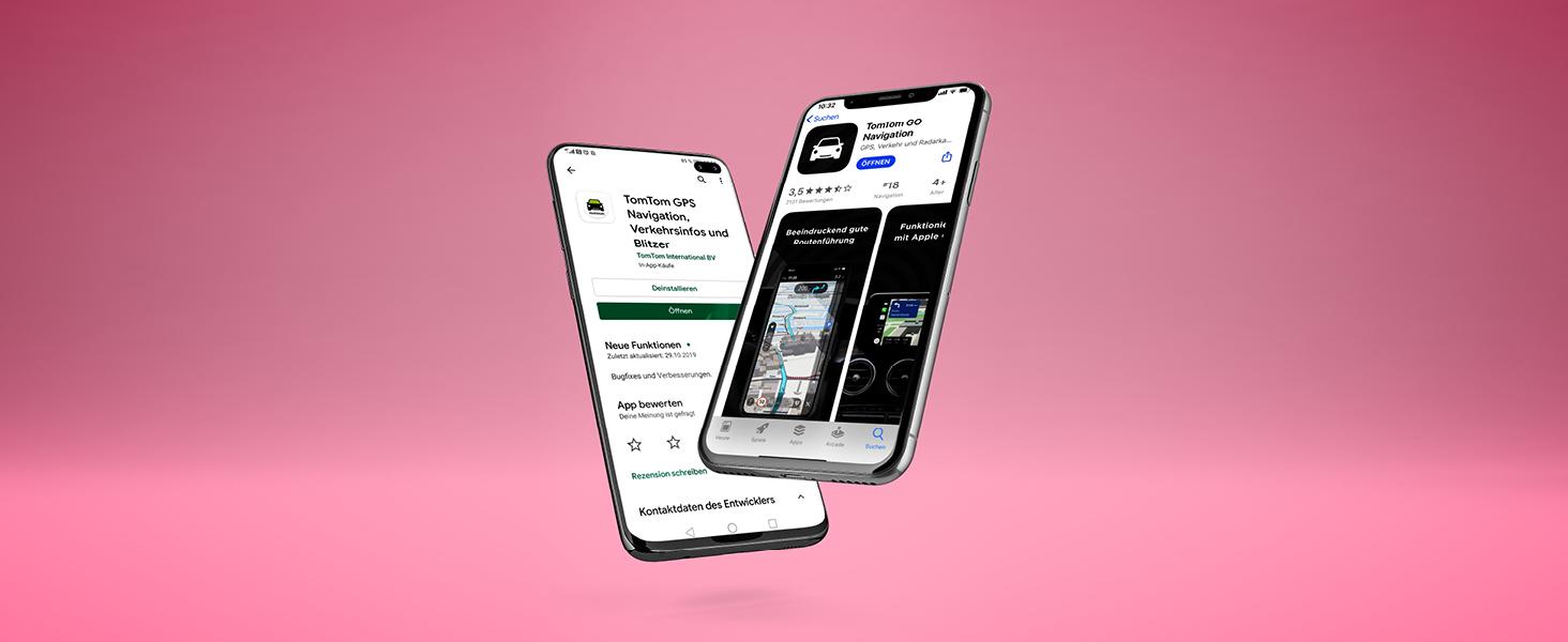"""In den Beiträgen zu Navi-Apps der motus-Serie """"App-Vergleich"""" ist der Weg das Ziel. Diesmal: TomTom GO Mobile"""