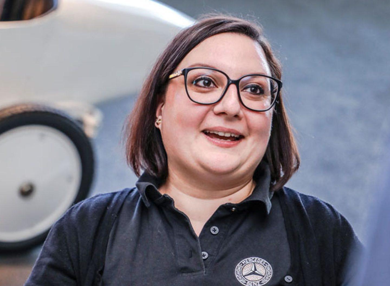 Melanie Pala organisiert Ausstellungen im Mercedes-Benz Museum