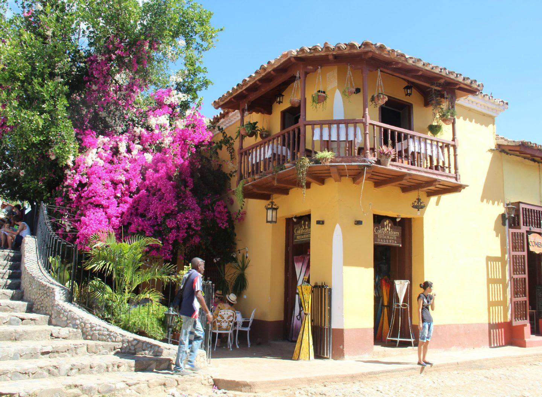 Haus auf Cuba Trinidad im Kolonialstil gebaut