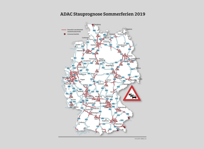 ADAC Stau Verkehrsprognose Sommer 2019