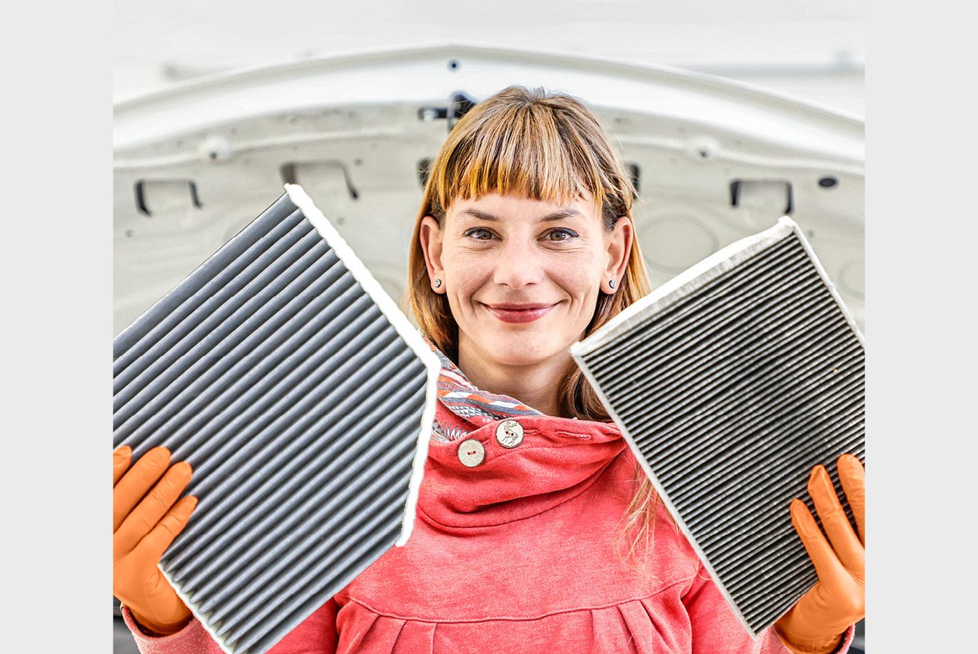 Filter bei einer Klimaanlage