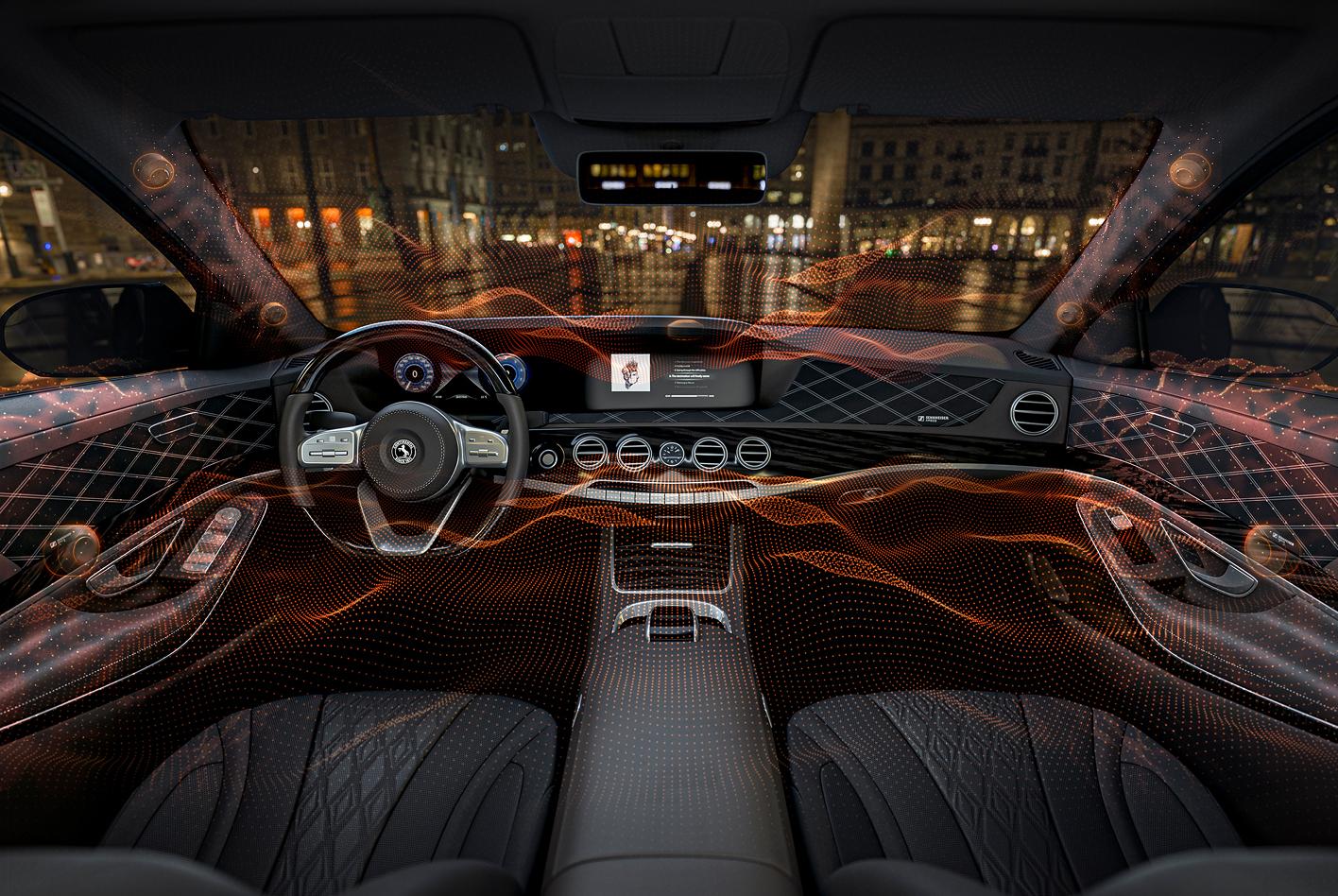 Oberflächen als Lautsprecher im Auto