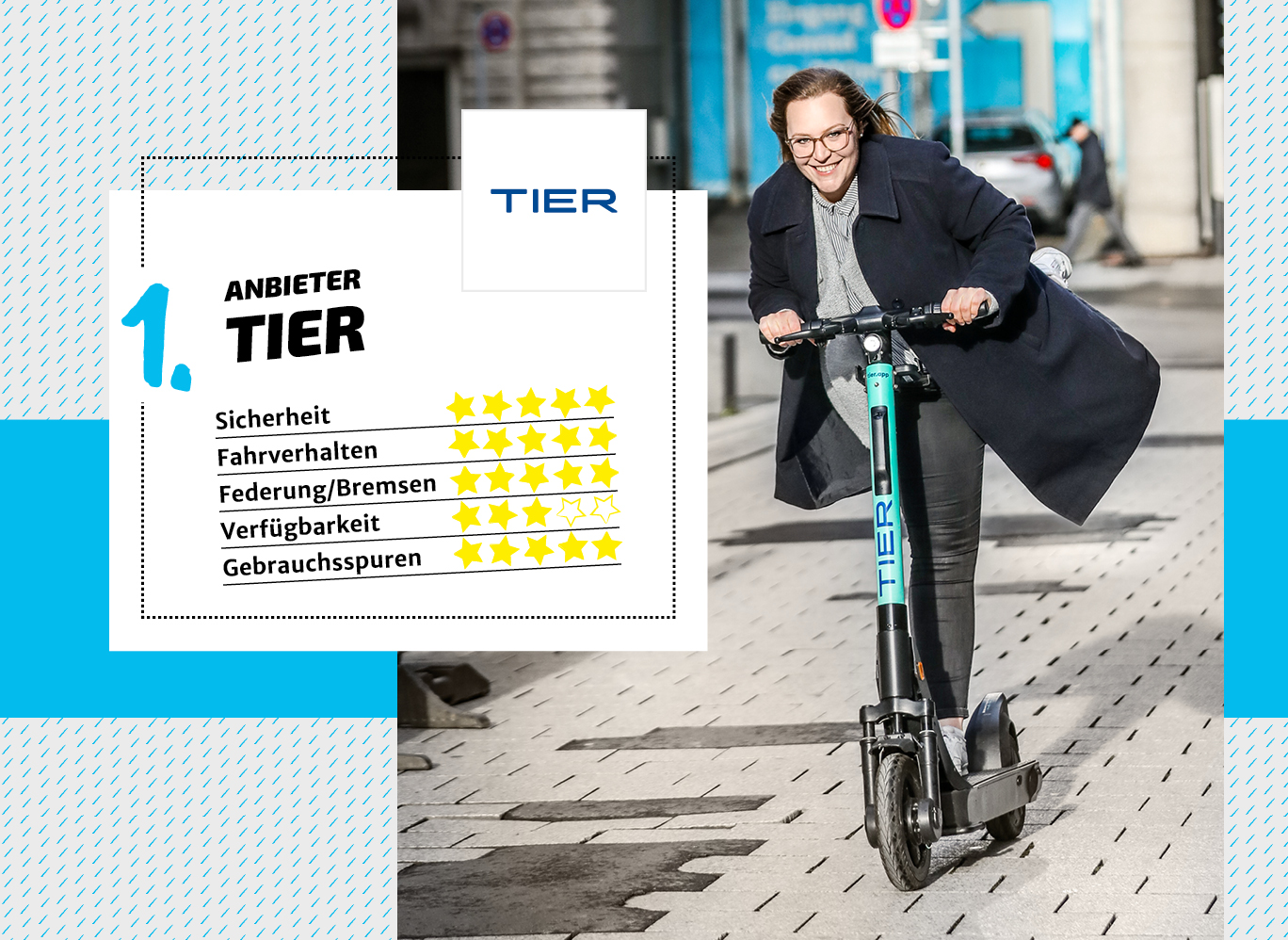 Bewertung: E-Scooter-Anbieter Tier