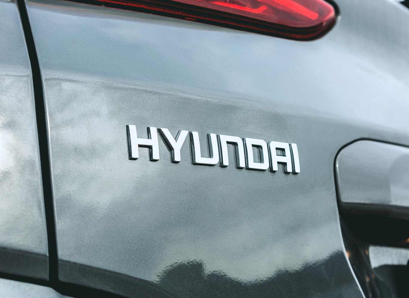 Eindrücke meiner Testfahrt mit dem Hyundai Kona: das Logo.