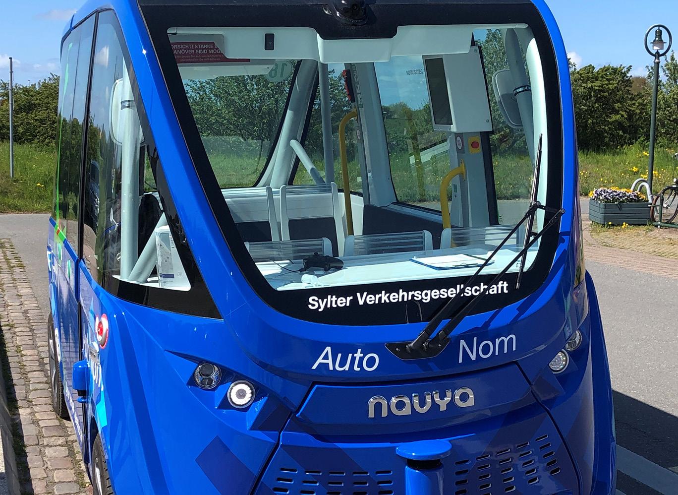 Feedback ist wichtig um herauszufinden, wie der autonom fahrende Bus angenommen wird.