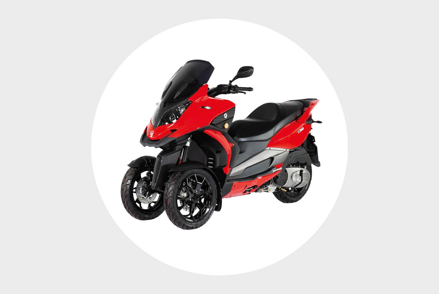 Dreirad-Roller im Vergleich: der QV3 von Quadro Vehicles.