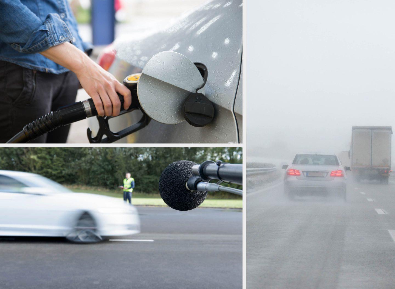 Das Reifenlabel zeigt Rollwiderstand, Nasshaftung und Rollgeräusch eines Autoreifens.