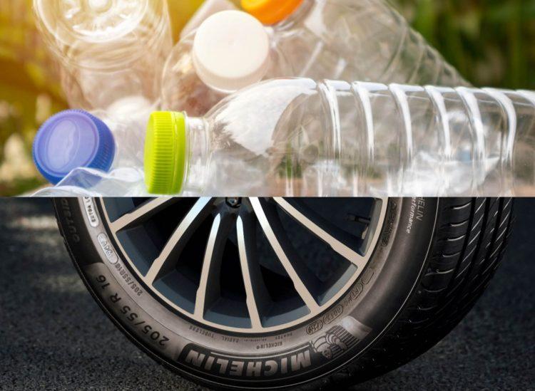 Mit einem neuen Recycling-Verfahren können aus alten Plastikflaschen hochfeste Polyesterfasern für die Herstellung von Autoreifen gewonnen werden.
