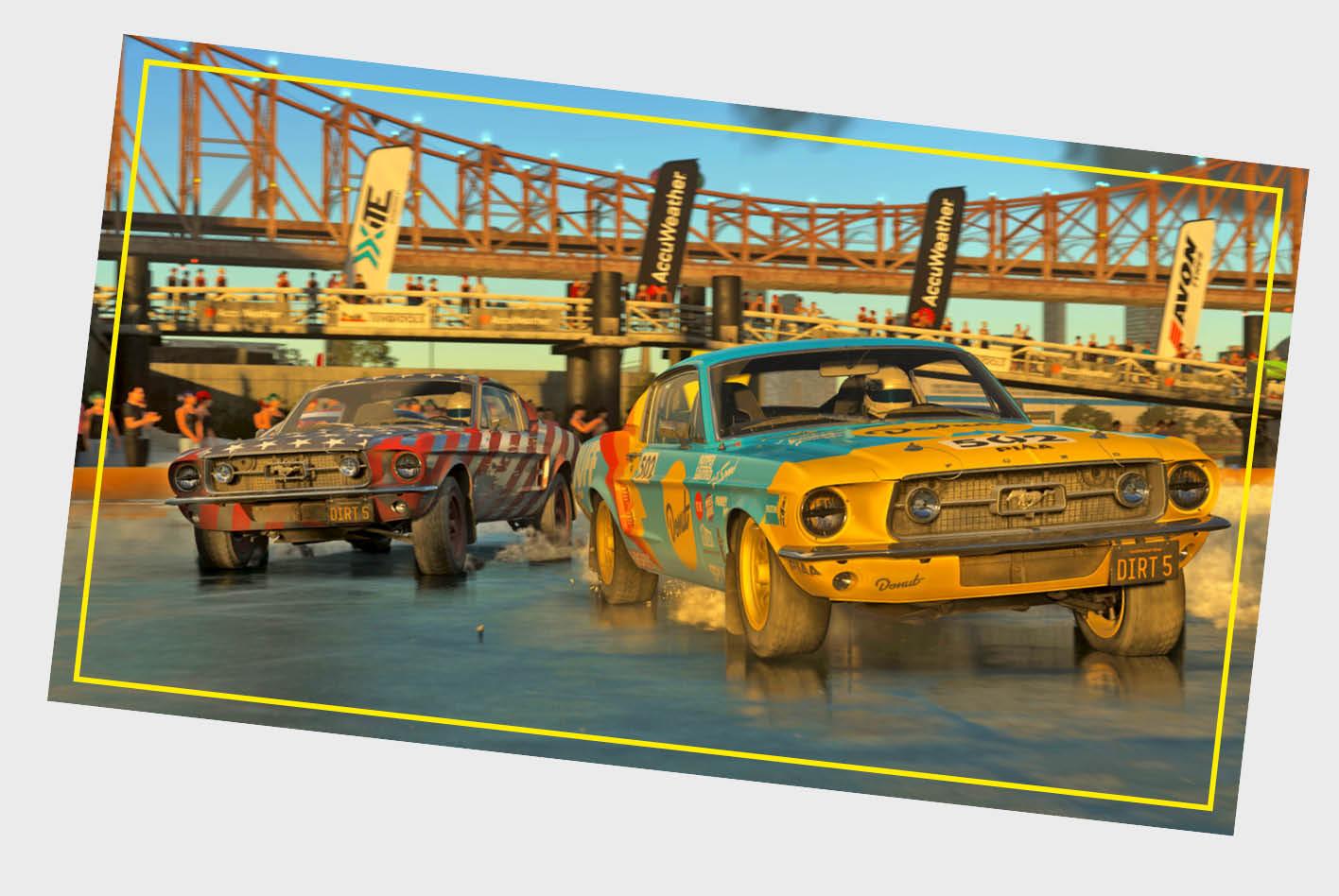 Das Racing-Game Dirt 5 bietet etwa 70 einzigartige Rennstrecken auf Kies, Sand, Schnee und mehr.