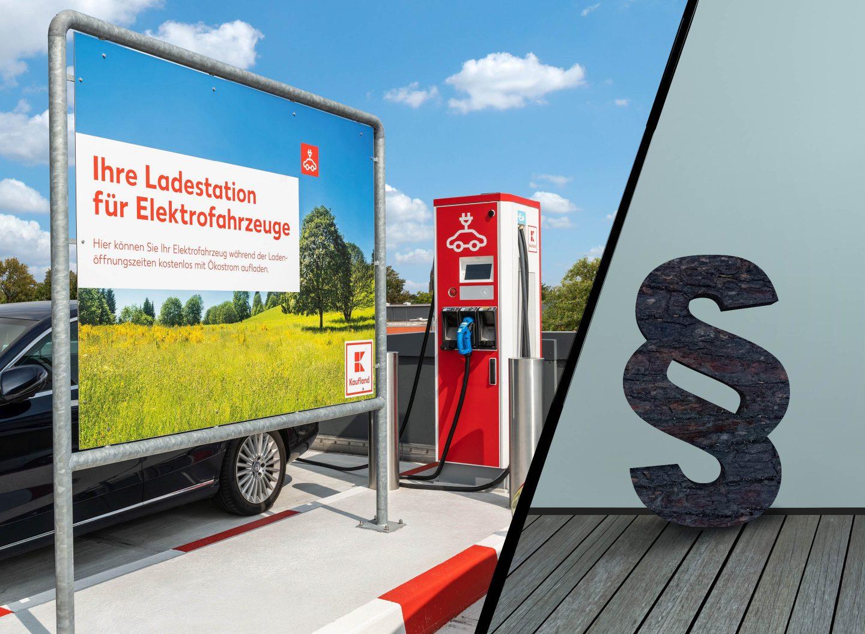 Supermärkte sind keine Tankstellen. Eine E-Ladestation rechtfertigt keine Öffnung an Sonn- und Feiertagen. Das hat das Verwaltungsgericht Berlin entschieden. Bild: © Kaufland