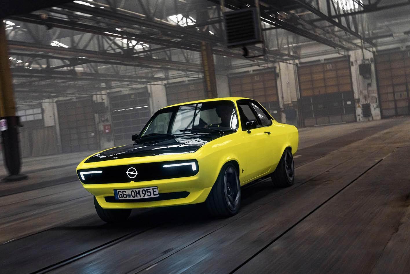 Ingenieure pflanzten einem Original-Manta aus dem Jahr 1973 einen E-Motor samt dazugehöriger Technik ein. Bild: Opel